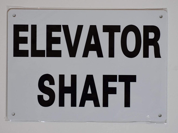 Elevator Shaft Sign (Aluminium Reflective, White )