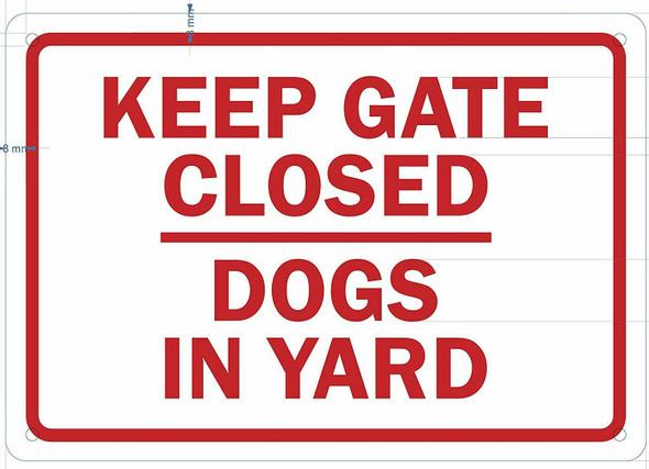 Keep Gates Closed Sign