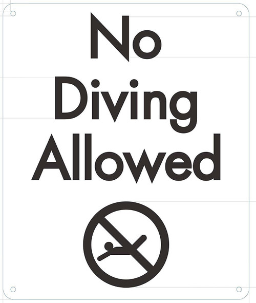 NO Diving Allowed Sign with Symbol
