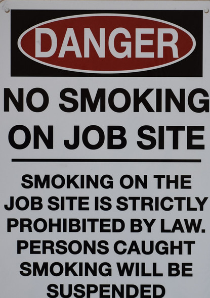 DOB NYC-NO SMOKING ON JOB SITE SIGN