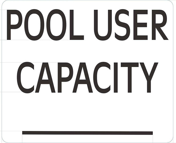 Pool User Capacity Sign