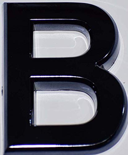 1 PCS - Apartment Number Sign/Mailbox Number Sign, Door Number Sign. Letter B