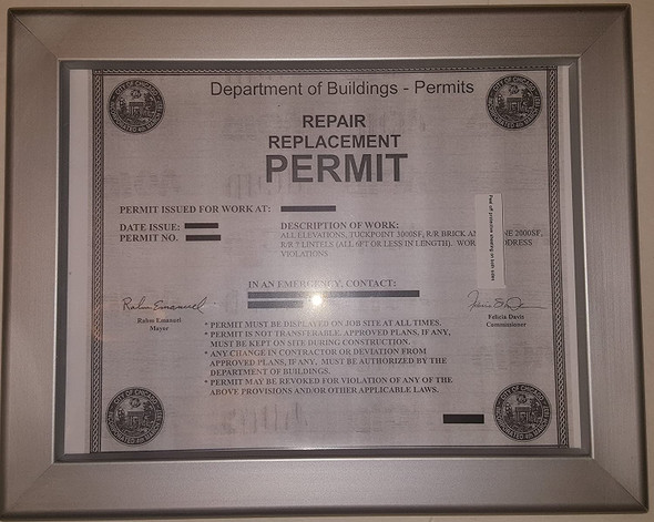 Permit frame city of Chicago 8.5 x 11