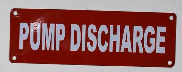 Pump Discharge Sign