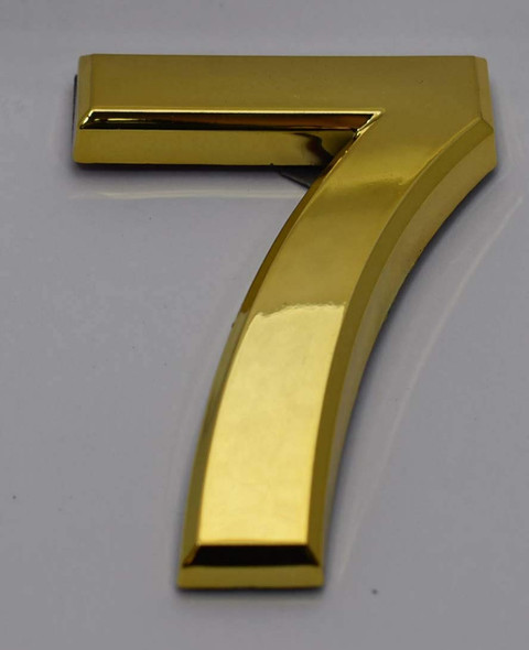 Apartment Number Sign/Mailbox Number Sign, Door Number Sign. Number 7 Gold,3D,