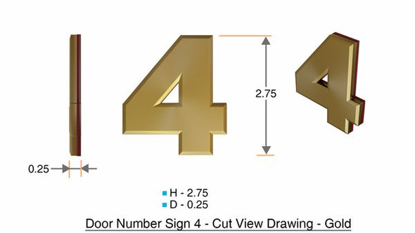 Apartment Number Sign Number Sign 4-