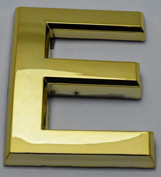 Apartment Number /Mailbox Number , Door Number . Letter E Gold - The Maple line