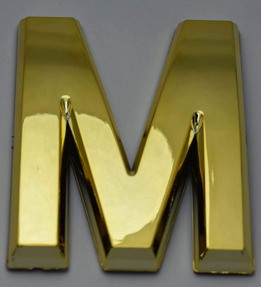 Apartment Number /Mailbox Number , Door Number . Letter M Gold - The Maple line