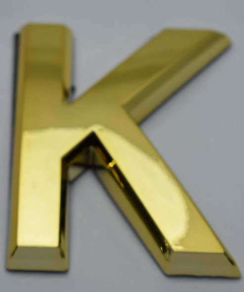 Apartment Number /Mailbox Number , Door Number . Letter K Gold - The Maple line