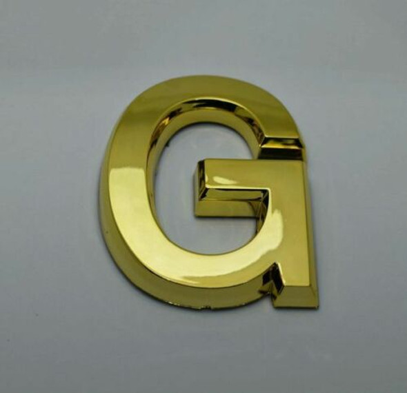 Apartment Number Sign/Mailbox Number Sign, Door Number Sign. Letter G Gold line