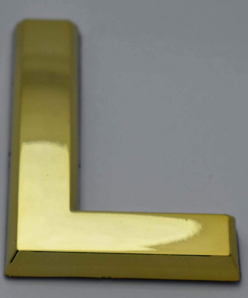 Apartment Number /Mailbox Number , Door Number . Letter L Gold - The Maple line