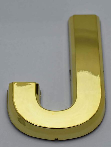 1 PCS - Apartment Number Sign/Mailbox Number Sign, Door Number Sign. Letter J Gold