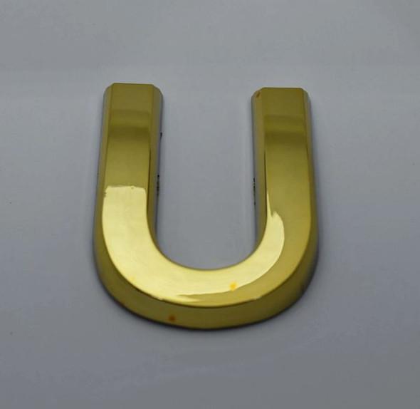 1 PCS - Apartment Number Sign/Mailbox Number Sign, Door Number Sign. Letter U Gold