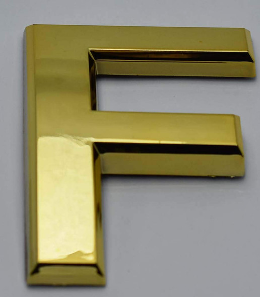 Apartment Number /Mailbox Number , Door Number . Letter F Gold - The Maple line