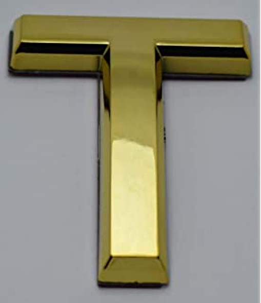 1 PCS - Apartment Number Sign/Mailbox Number Sign, Door Number Sign. Letter T Gold