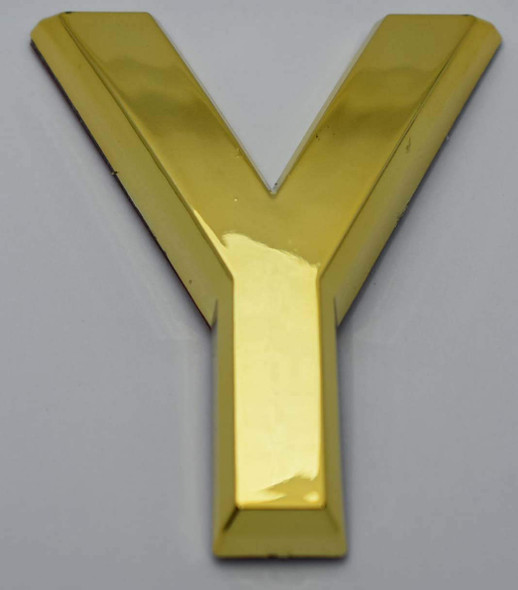 1 PCS - Apartment Number Sign/Mailbox Number Sign, Door Number Sign. Letter Y Gold