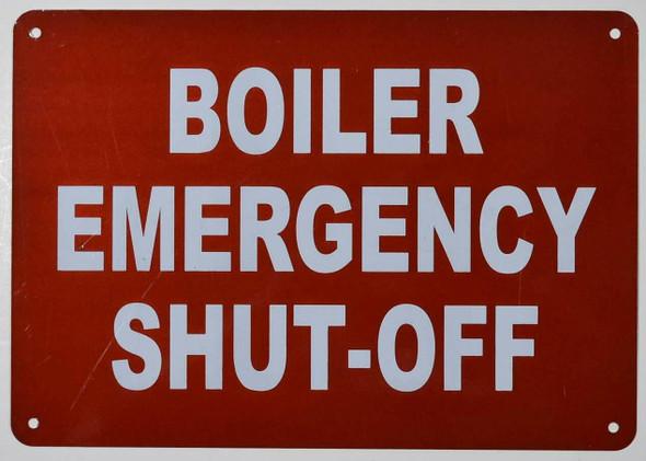 Boiler Emergency Shut Off Sign