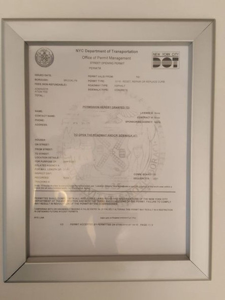Department of transportation permit frame