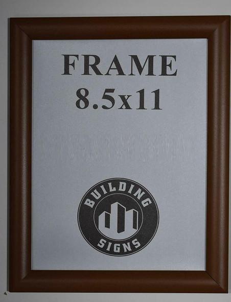 Brown Snap Poster Frame/Picture Frame/Notice Frame Front Load Easy Open Snap Frame
