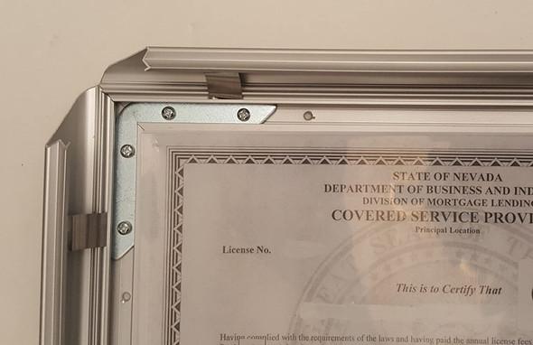 Business License Certificate Frame NV