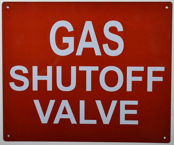 Gas SHUTOFF Valve Sign