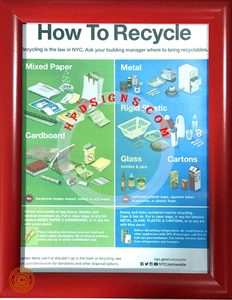 nyc how to recycle sign