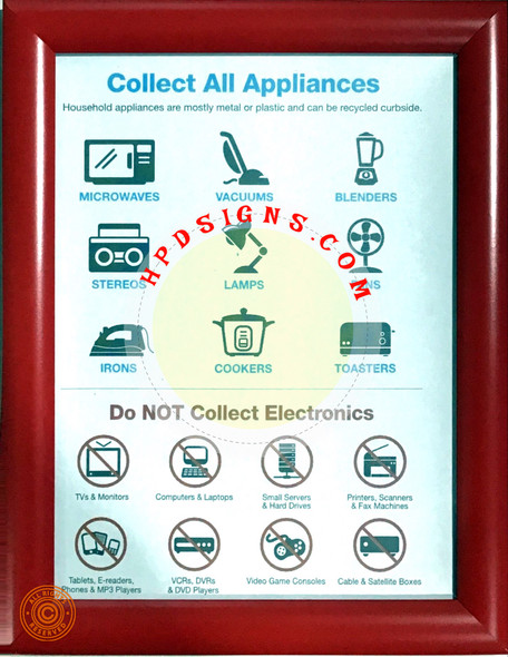 dob electronic recycle sign