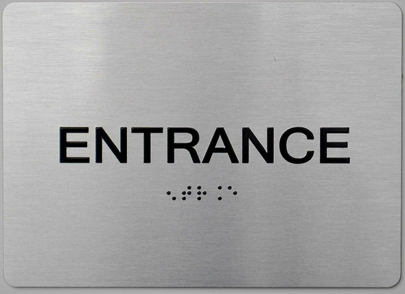 "Entrance - ADA Compliant Sign. 6""x9"" Sign"