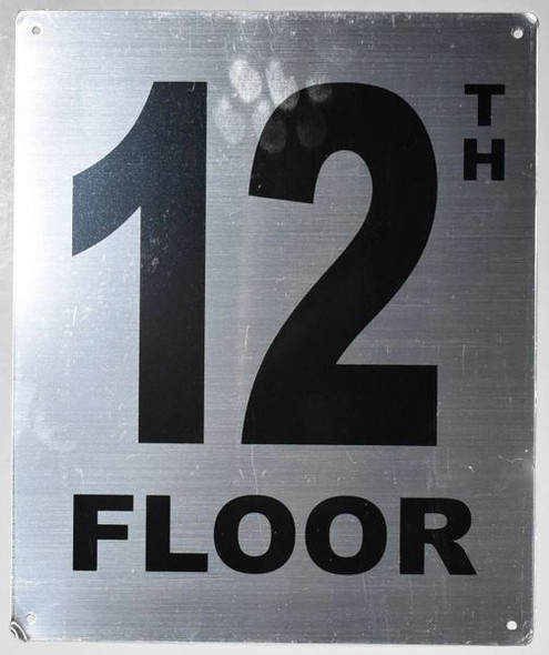 12TH Floor Sign