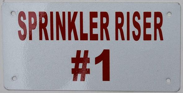 Sprinkler Riser #1 Sign