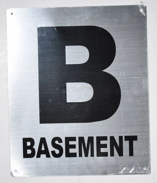 SILVER Basement Floor NUMBER SIGN
