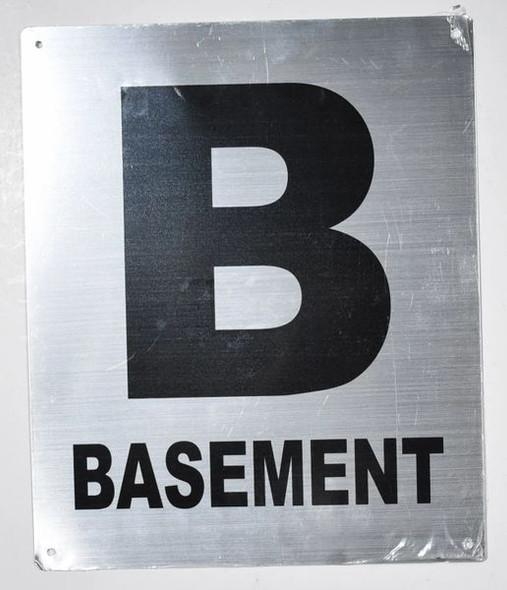 SILVER Basement Floor NUMBER SIGN