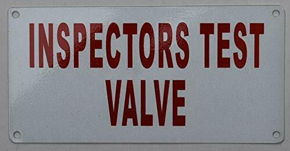 INSPECTOR Test Valve Sign