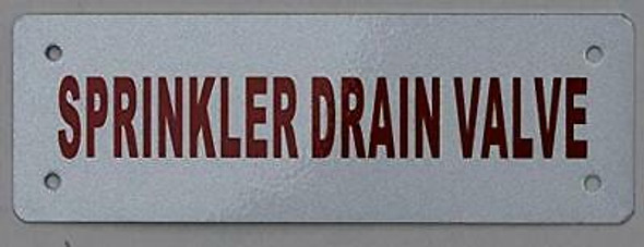 Sprinkler drain valve Sign