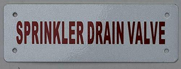 Sprinkler Drain Valve Sign ,