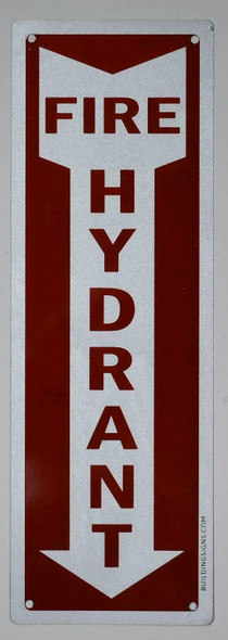 Fire Hydrant Arrow Down Sign