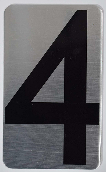House Number Sign/Apartment Number Sign- Four 4