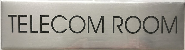 TELECOM ROOM SIGN - Delicato line (BRUSHED ALUMINUM)