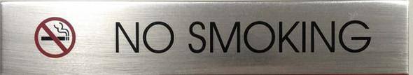 NO SMOKING SIGN  ALUMINUM -