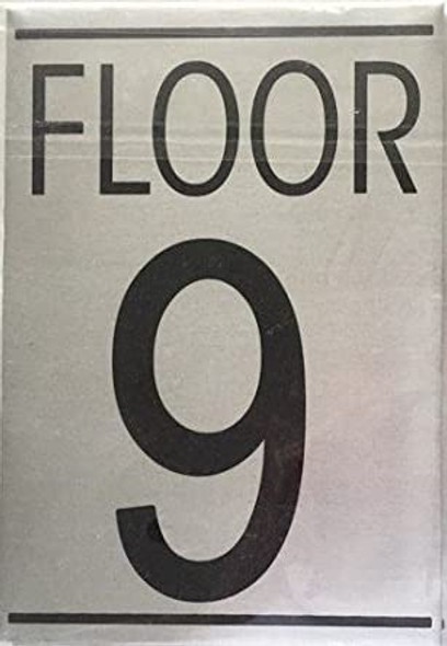 FLOOR NINE 9 SIGN -Delicato line