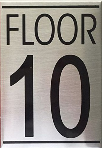 FLOOR TEN 10 SIGN -Delicato line