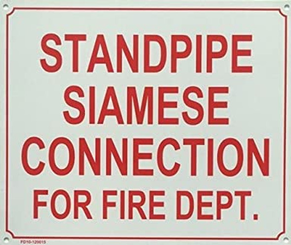 STANDPIPE SIAMESE CONNECTION FOR FIRE DEPARTMENT