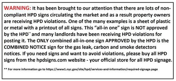 HPD Carbon monoxide detector notice(27-2046.1)-SILVER