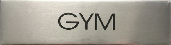 GYM SIGN - Delicato line (BRUSHED ALUMINUM)