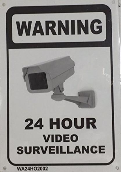 WARNING 24 HOUR VIDEO SURVEILLANCE SIGNAGE