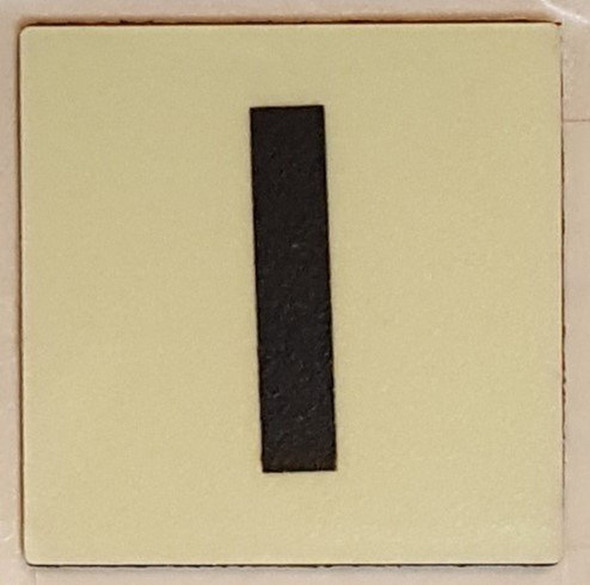 """PHOTOLUMINESCENT DOOR IDENTIFICATION NUMBER I Sign/ GLOW IN THE DARK """"DOOR NUMBER"""" Sign"""