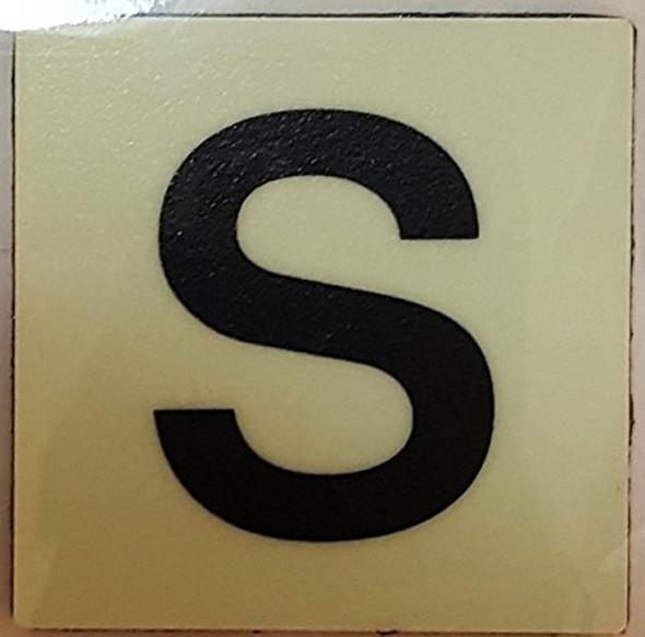 """PHOTOLUMINESCENT DOOR IDENTIFICATION NUMBER S Sign/ GLOW IN THE DARK """"DOOR NUMBER"""" Sign"""