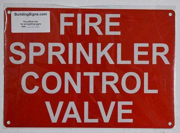 FIRE Sprinkler Control Valve Sign