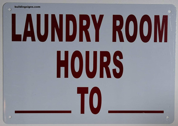 SIGNAGE  Laundry Room Hour