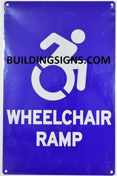 Wheelchair RAMP Sign  The Pour Tous Blue LINE